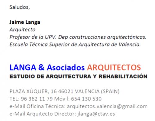 Arq langa asociados arquitectos periciales directorio - Listado arquitectos valencia ...